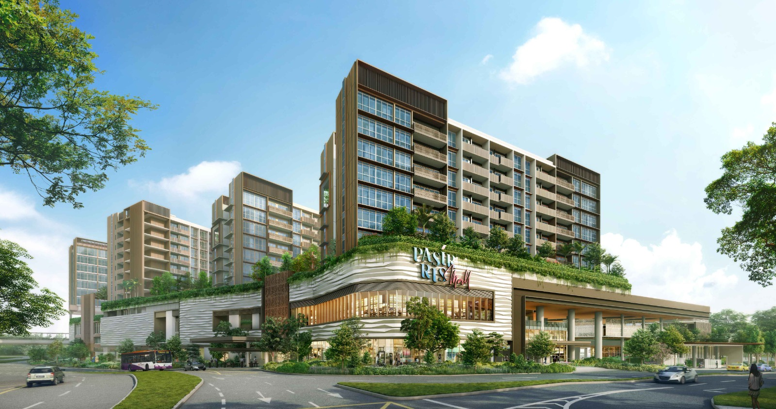 Pasir Ris 8 Integrated Mall - Day View